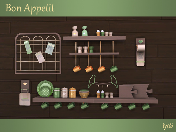 Bon Appetit shelves & objects by soloriya at TSR image 1316 Sims 4 Updates
