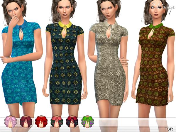 Crochet Sheath Dress by ekinege at TSR image 1319 Sims 4 Updates