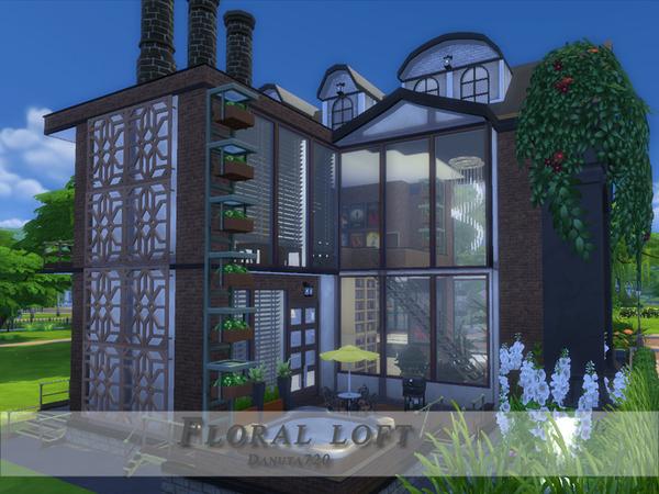 Sims 4 Floral loft by Danuta720 at TSR