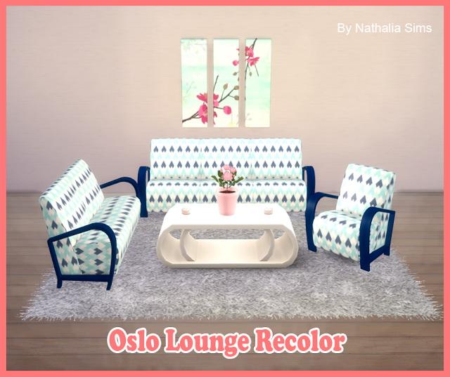 Oslo Lounge recolors at Nathalia Sims image 1358 Sims 4 Updates