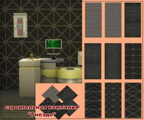 Sims 4 Metos Metal Wallpaper at Sims by Mulena