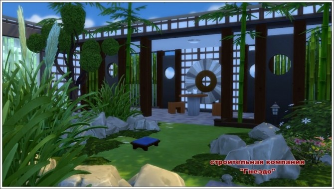 Sims 4 Japanese garden at Sims by Mulena