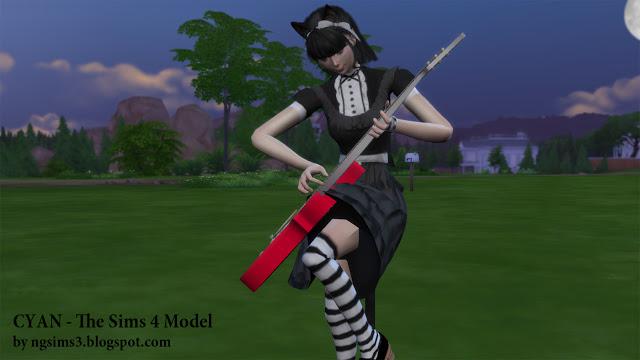 Sims 4 Cyan Anime at NG Sims3