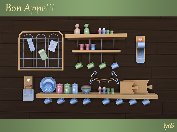 Bon Appetit shelves & objects by soloriya at TSR image 1415 Sims 4 Updates