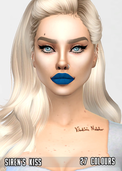 Sirens kiss lipstick at Sims by Skye image 1419 Sims 4 Updates