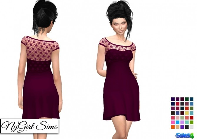 Strapless Dress with Lace Crop Overlay at NyGirl Sims image 14212 670x473 Sims 4 Updates