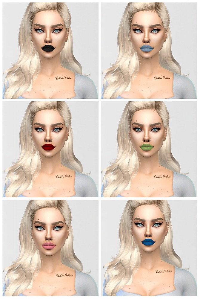 Sirens kiss lipstick at Sims by Skye image 1425 670x1000 Sims 4 Updates