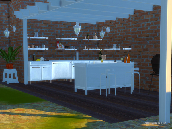 Outdoor 2016 Grill and Bar by ShinoKCR at TSR image 1427 Sims 4 Updates