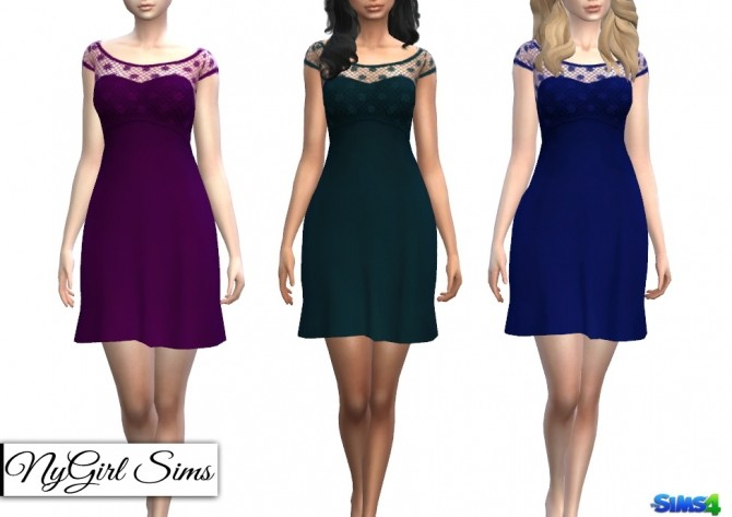 Strapless Dress with Lace Crop Overlay at NyGirl Sims image 14311 670x473 Sims 4 Updates