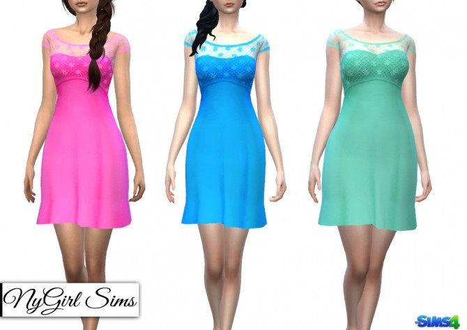 Strapless Dress with Lace Crop Overlay at NyGirl Sims image 1449 670x473 Sims 4 Updates