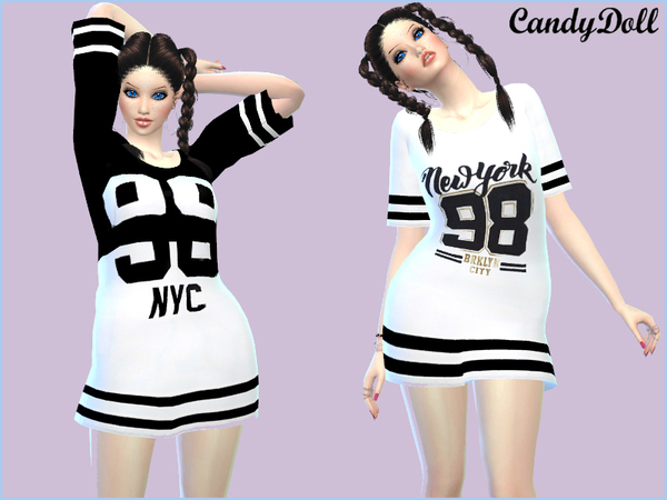 CandyDoll Cool Sporty Tees by DivaDelic06 at TSR image 1450 Sims 4 Updates