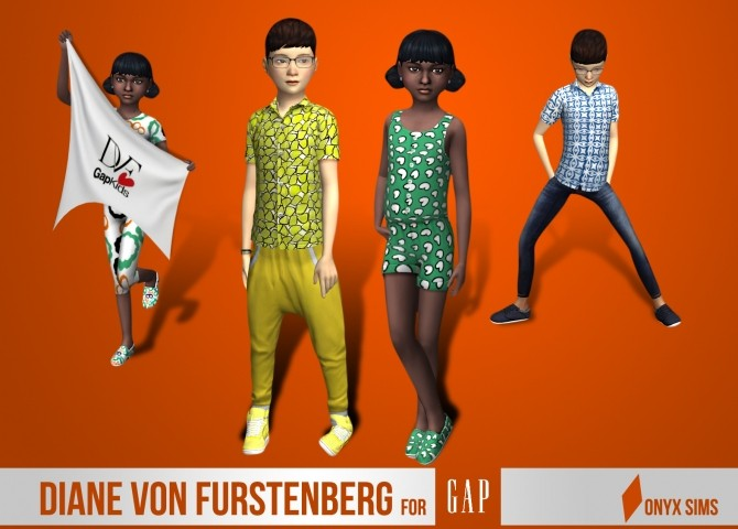 Sims 4 DVF Collection for kids at Onyx Sims
