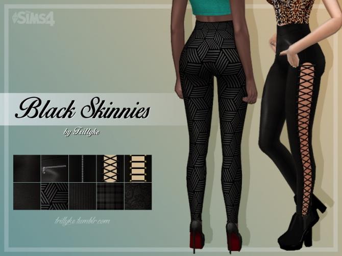 Black Skinnies At Trillyke 187 Sims 4 Updates