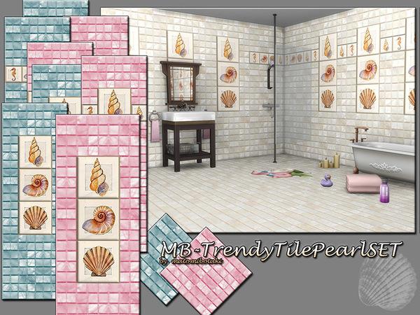 Sims 4 MB Trendy Tile Pearl SET by matomibotaki at TSR