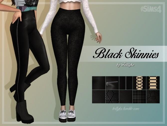 Sims 4 Black Skinnies at Trillyke