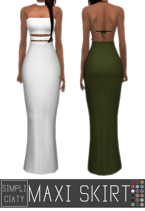 MAXI SKIRT at Simpliciaty image 14910 Sims 4 Updates