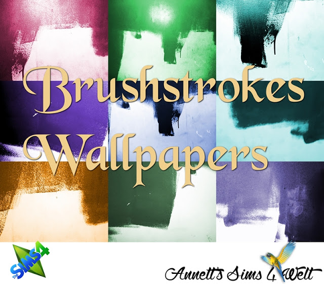 Brushstrokes Wallpapers at Annett's Sims 4 Welt image 14911 Sims 4 Updates