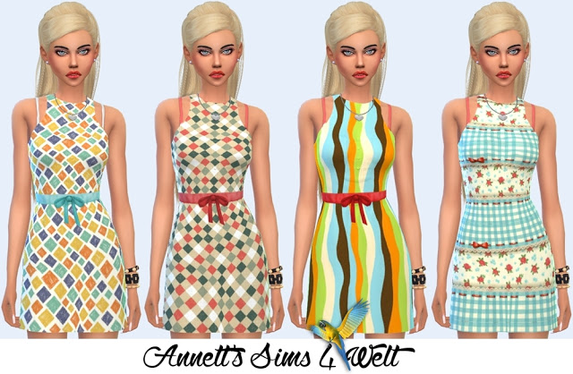 Sims 4 Summer Dress Ibiza at Annett's Sims 4 Welt