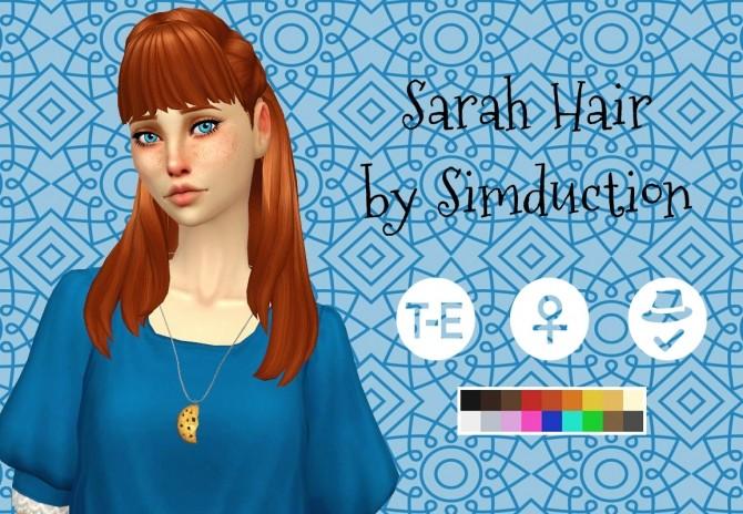 Sims 4 Sarah Hair at Simduction