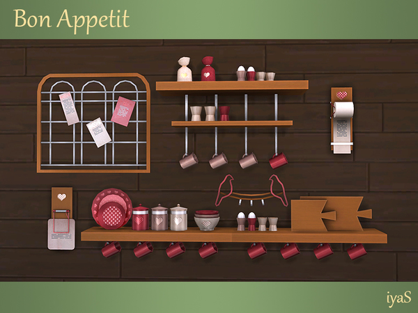 Bon Appetit shelves & objects by soloriya at TSR image 1517 Sims 4 Updates