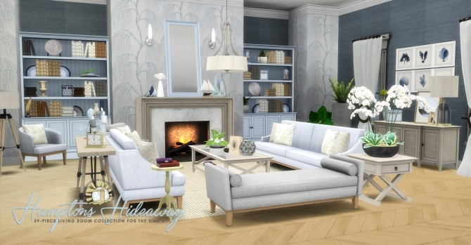 Hamptons Hideaway Living Room by Peacemaker IC at Simsational Designs image 1525 670x349 Sims 4 Updates