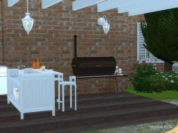 Outdoor 2016 Grill and Bar by ShinoKCR at TSR image 1526 Sims 4 Updates