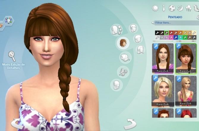 Sims 4 Braid Side With Bangs by Kiara Zurk at My Stuff