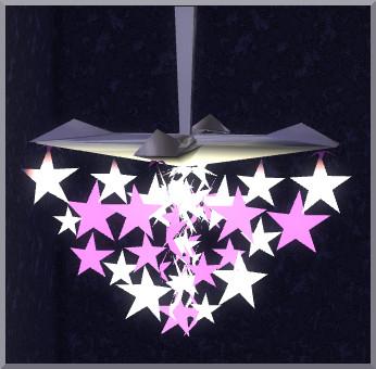 Sims 4 Star ceiling lamp by Christine1000 at Sims Marktplatz