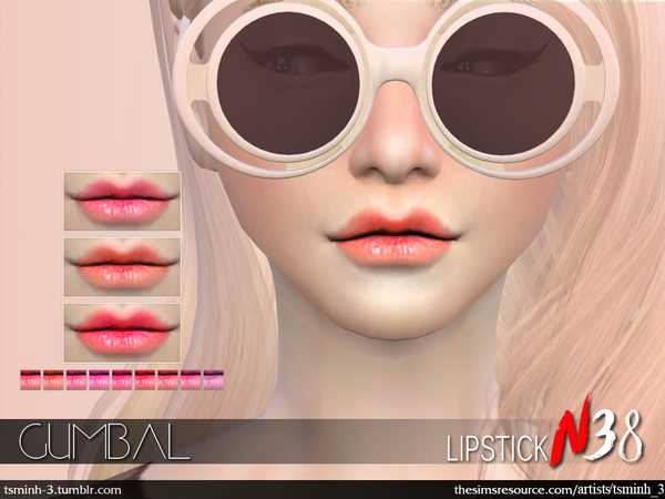 Sims 4 Gumbal Lipstick by tsminh 3 at TSR