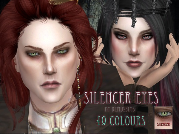 Sims 4 Silencer Eyes by RemusSirion at TSR