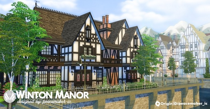 Sims 4 Winton Manor by Peacemaker IC at Simsational Designs