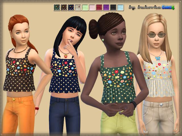 Sims 4 Shirt Short at Bukovka