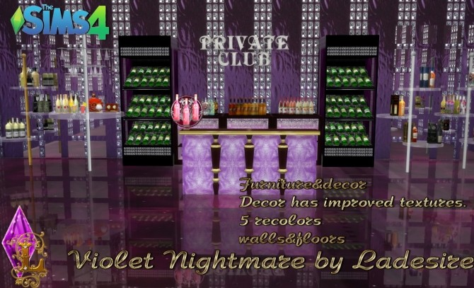 Violet Nightmare set 72 items at Ladesire image 1586 670x407 Sims 4 Updates