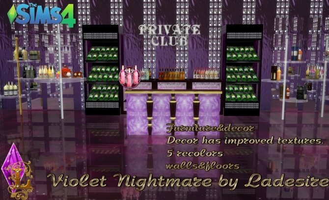 Violet Nightmare Set 72 Items At Ladesire 187 Sims 4 Updates