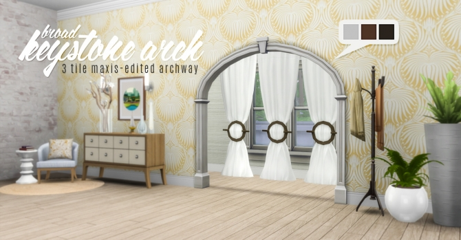 broad keystone arch 3 tile maxis edited archway at. Black Bedroom Furniture Sets. Home Design Ideas