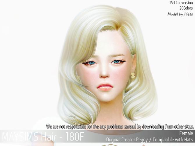 Sims 4 Hair 180F (Peggy) at May Sims