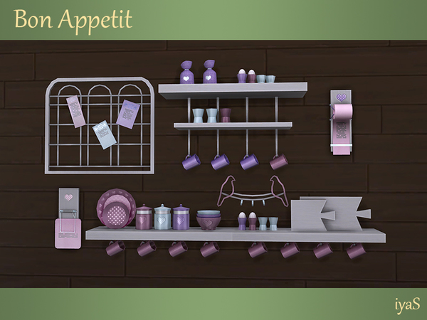 Bon Appetit shelves & objects by soloriya at TSR image 1617 Sims 4 Updates