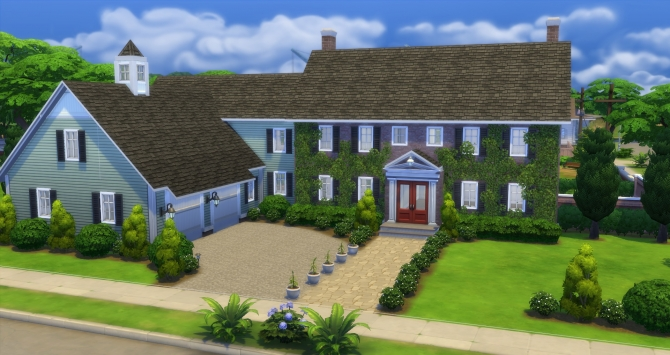 Duxbury Colonial House By Gizky At Mod The Sims 187 Sims 4