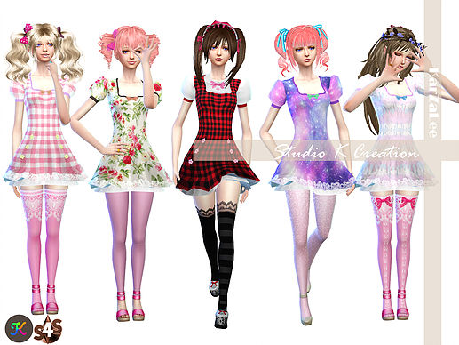 Secret Pink Lulu Dress Type B At Studio K Creation 187 Sims