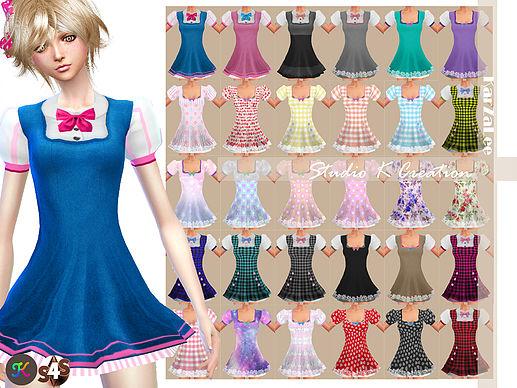 Sims 4 Secret Pink Lulu dress type B at Studio K Creation