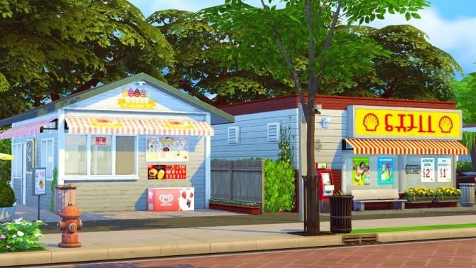 Sims 4 Copeland Gas Station & Ice Cream Stand lot at Jenba Sims
