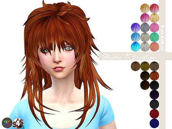 Sims 4 Animate hair 57 AOBA at Studio K Creation