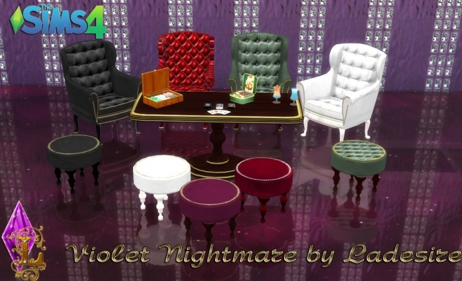 Violet Nightmare set 72 items at Ladesire image 1666 670x407 Sims 4 Updates