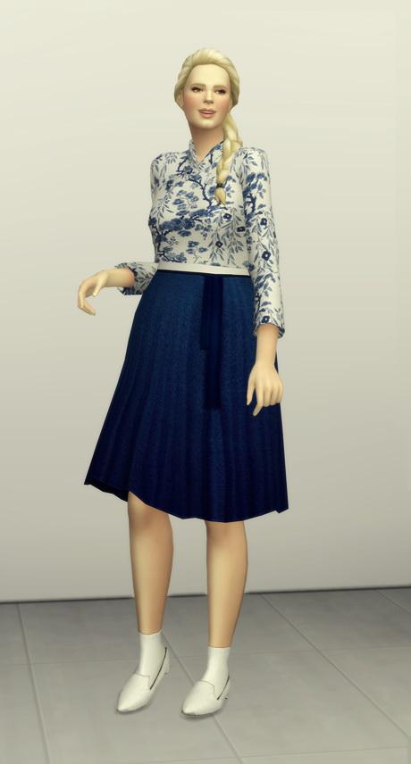 Sims 4 Trendy hanbok 10 colors at Rusty Nail