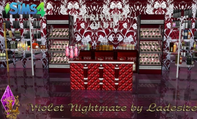 Violet Nightmare set 72 items at Ladesire image 1676 670x407 Sims 4 Updates
