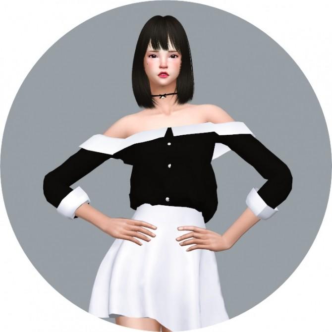 Off Shoulder Collar Blouse at Marigold image 1691 670x670 Sims 4 Updates