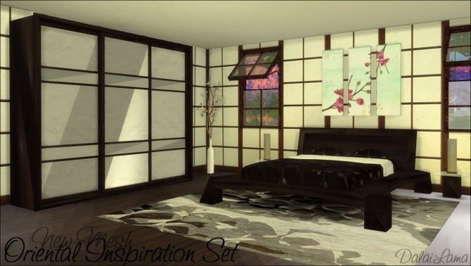 Oriental Inspiration Bedroom Set by DalaiLama at The Sims Lover image 1699 670x378 Sims 4 Updates