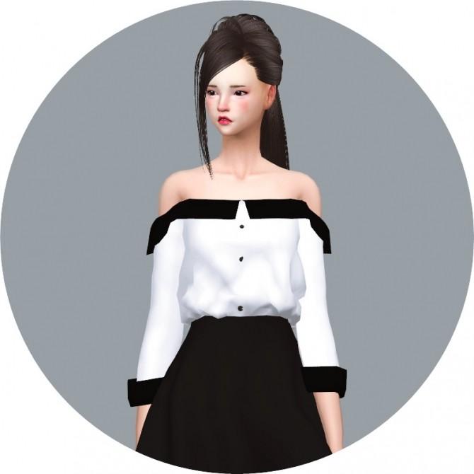 Off Shoulder Collar Blouse at Marigold image 1701 670x670 Sims 4 Updates