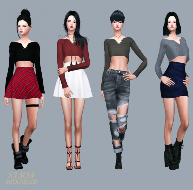 Sims 4 Rough Crop Top at Marigold