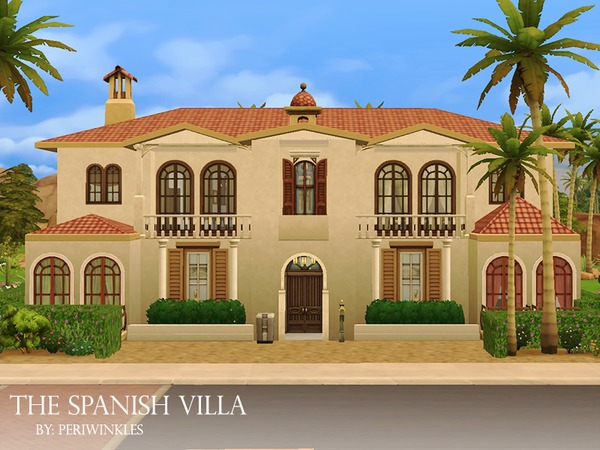 The Spanish Villa by periwinkles at TSR image 1716 Sims 4 Updates